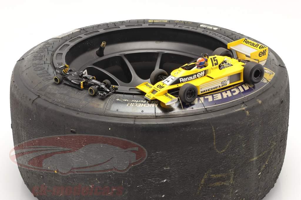 Original Michelin Rennreifen 20/54-13 mit Felge Formel Renault 2.0