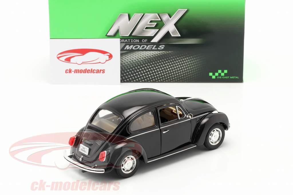 Volkswagen VW Käfer Hard Top Año 1959 negro 1:24 Welly