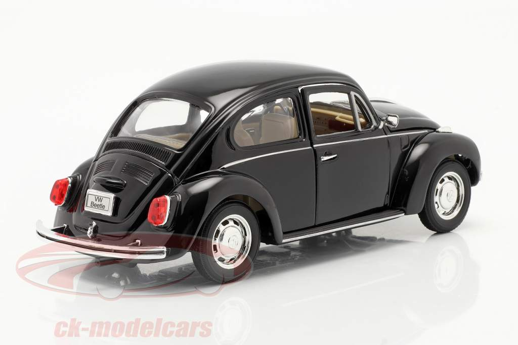 Volkswagen VW Käfer Hard Top År 1959 sort 1:24 Welly