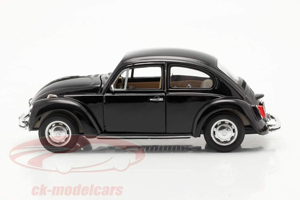 Volkswagen VW Käfer Hard Top Jaar 1959 zwart 1:24 Welly