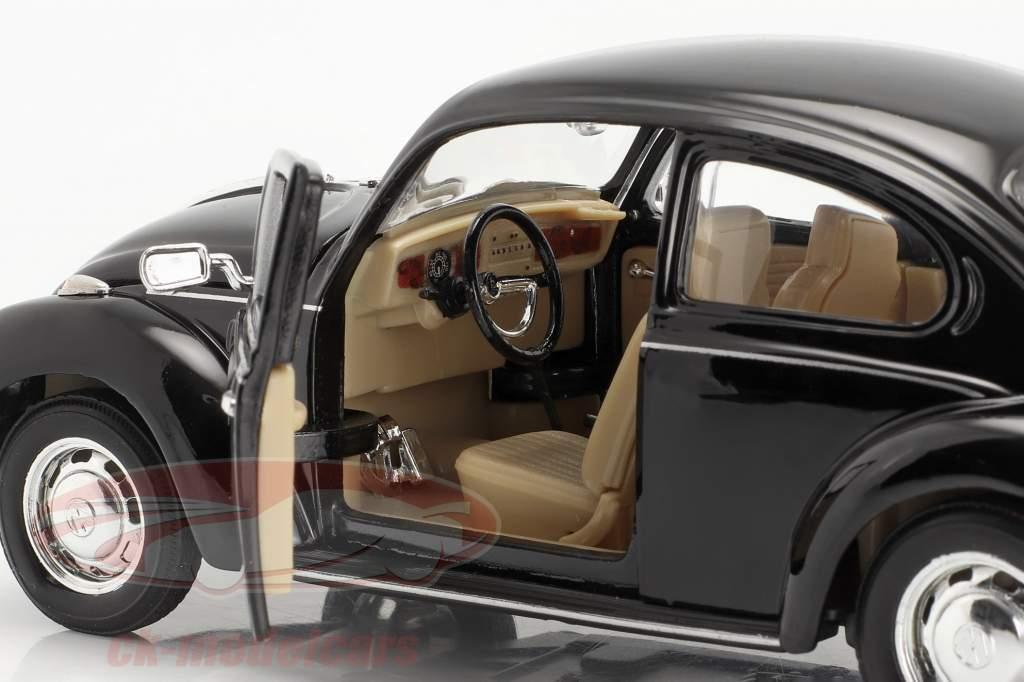 Volkswagen VW Käfer Hard Top Year 1959 black 1:24 Welly