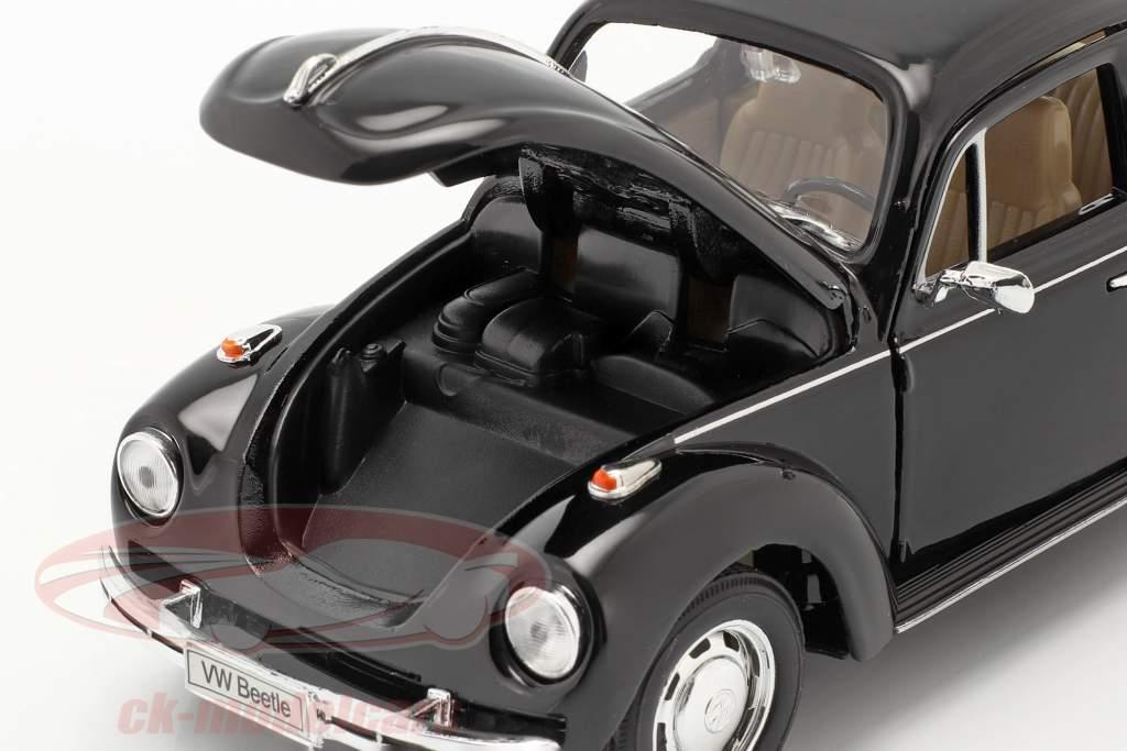 Volkswagen VW Käfer Hard Top Année 1959 noir 1:24 Welly