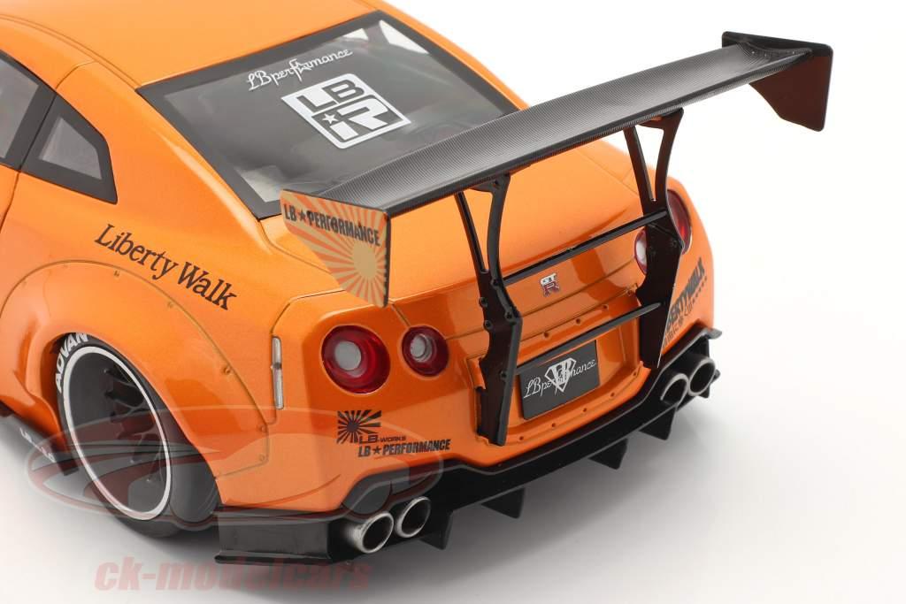 LB Works Nissan GT-R (R35) Taper 2 Orange métallique 1:18 Solido