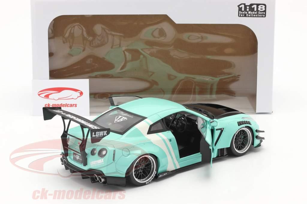LB Works Nissan GT-R (R35) Type 2 munt groen 1:18 Solido