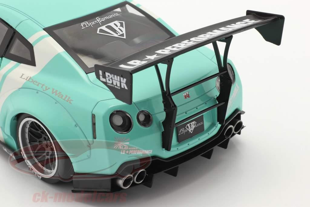 LB Works Nissan GT-R (R35) Modelo 2 hortelã verde 1:18 Solido