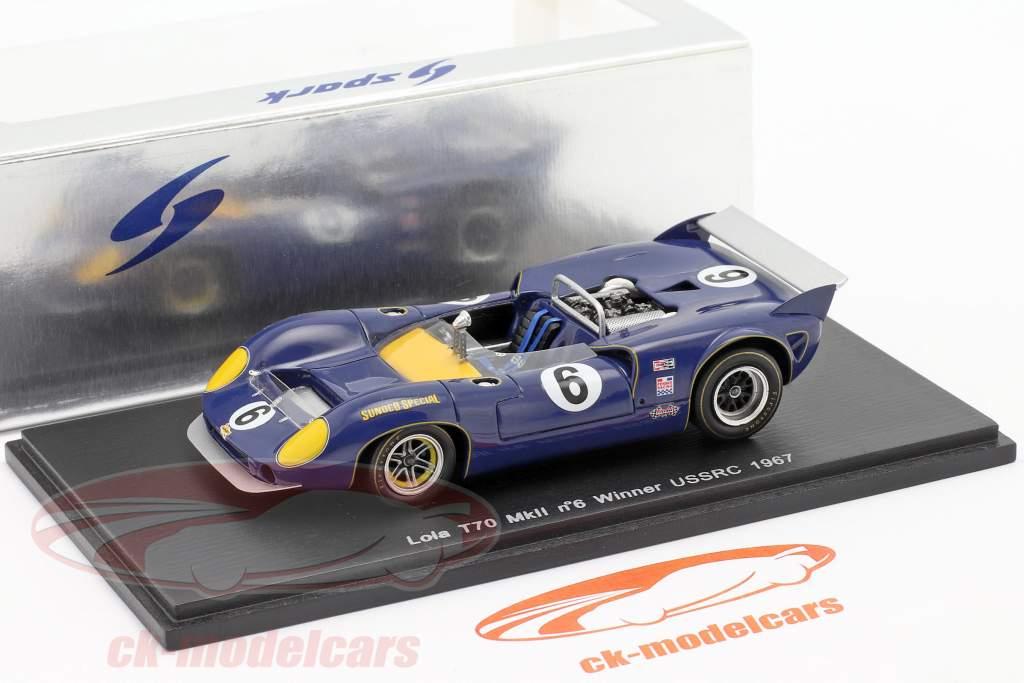 Mark Donohue Lola T70 MKII #6 Winner USSRC 1967 1:43 Spark