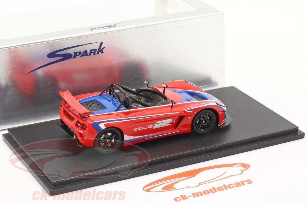 Lotus 2 Eleven Tokyo Motor Show 2007 Rød / Blå Spark 1:43