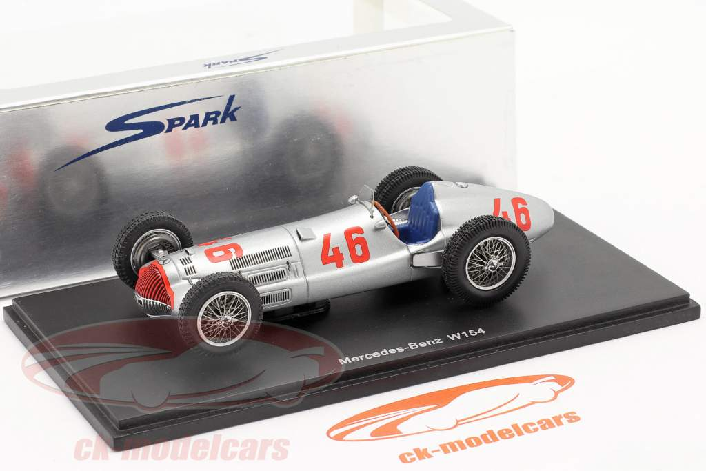 Mercedes Benz W154 #46 Winner Tripoli GP 1938 H. Lang 1:43 Spark