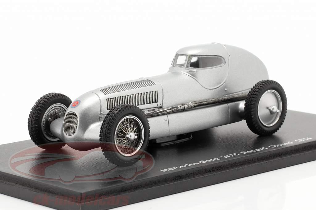 Registro de Mercedes-Benz W25 fechado ano 1934 prata 1:43 Spark