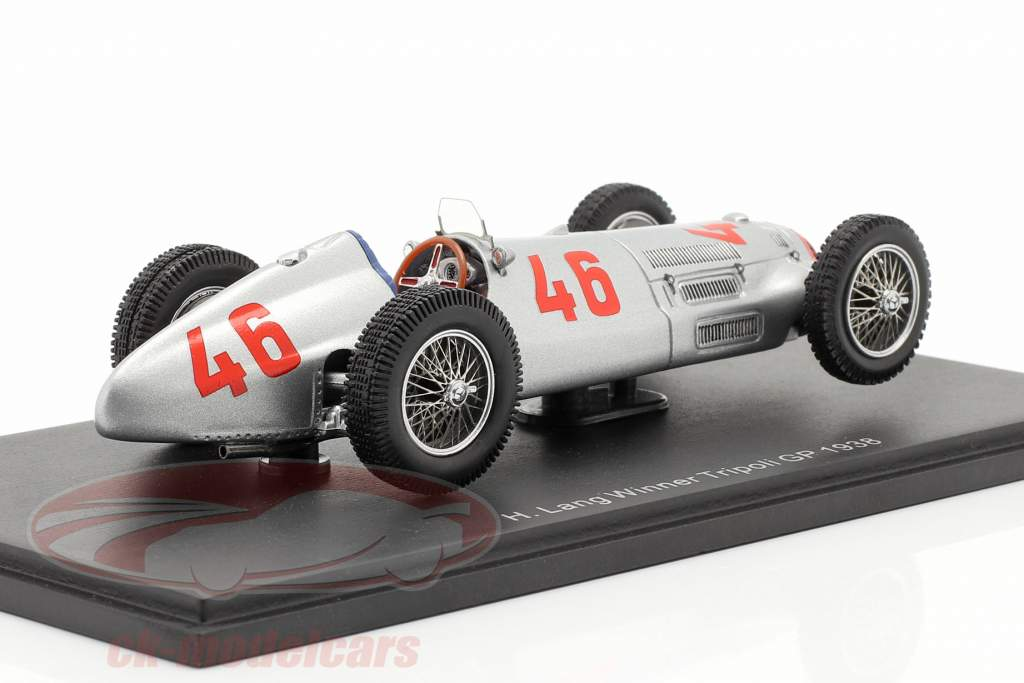 Mercedes Benz W154 #46 Vencedor Tripoli GP Formula 1 1938 H. Lang 1:43 Spark