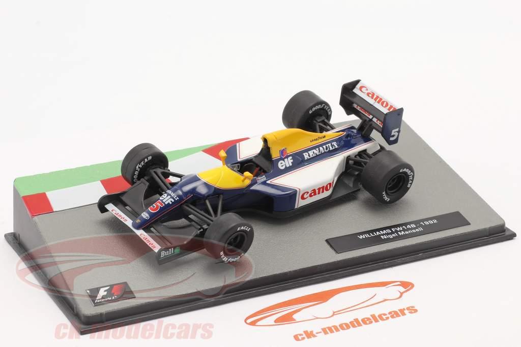 Nigel Mansell Williams FW14B #5 Formel 1 Weltmeister 1992 1:43 Altaya