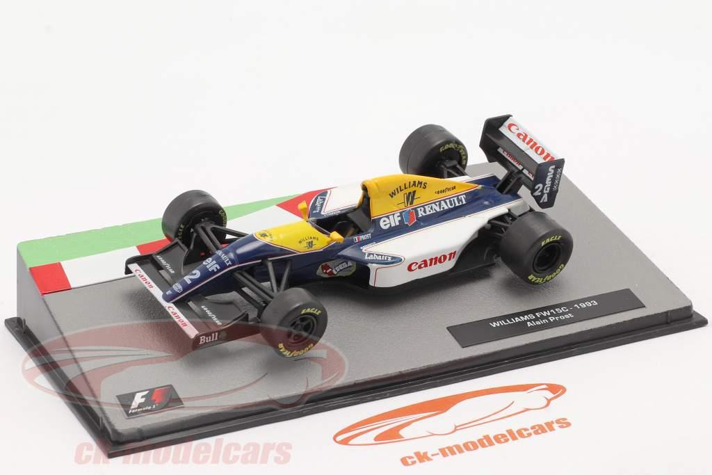 Alain Prost Williams FW15C #2 Fórmula 1 Campeão mundial 1993 1:43 Altaya