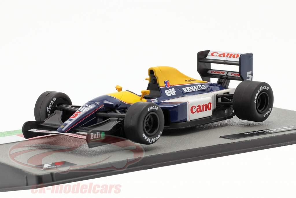Nigel Mansell Williams FW14B #5 formule 1 Champion du monde 1992 1:43 Altaya