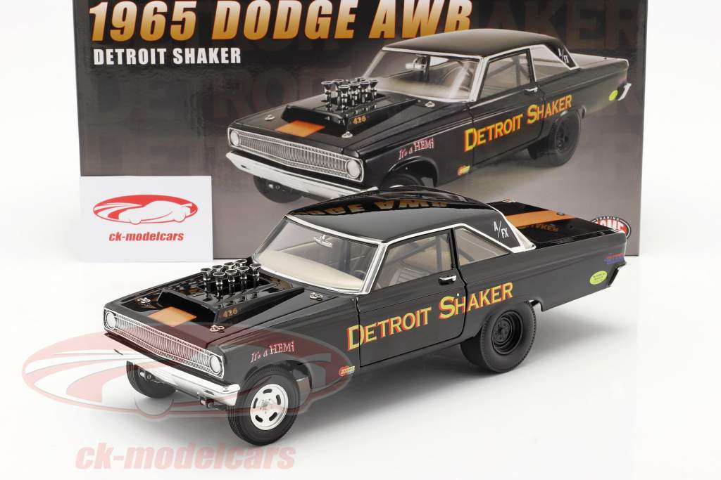 Dodge AWB Detroit Shaker Drag Car 1965 negro 1:18 GMP