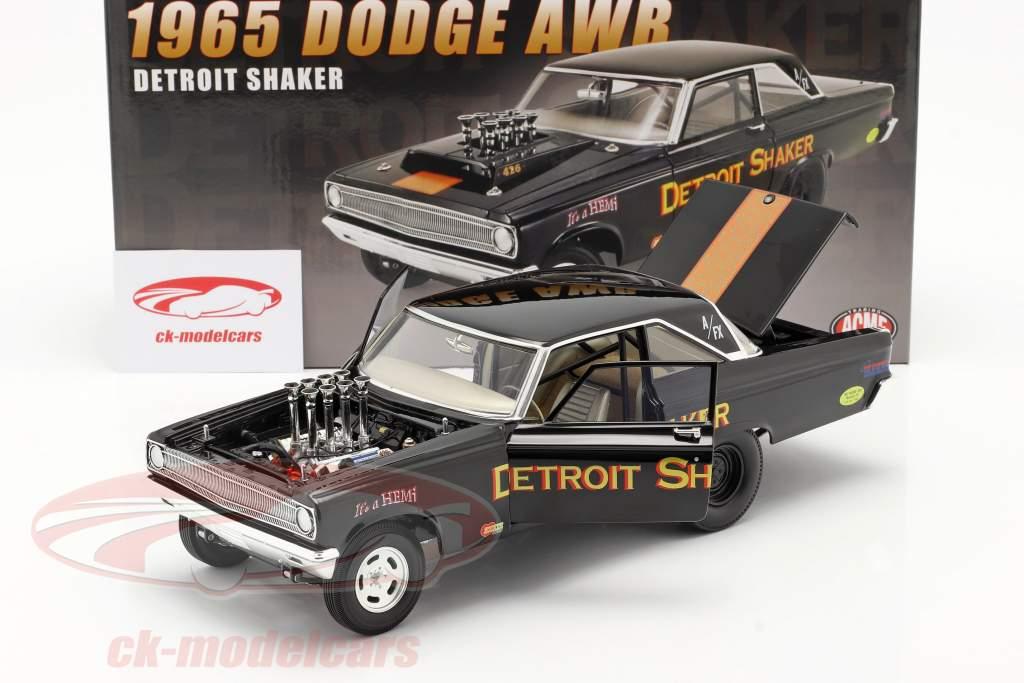 Dodge AWB Detroit Shaker Drag Car 1965 nero 1:18 GMP