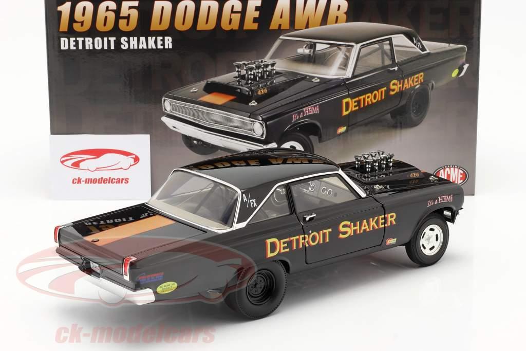Dodge AWB Detroit Shaker Drag Car 1965 noir 1:18 GMP