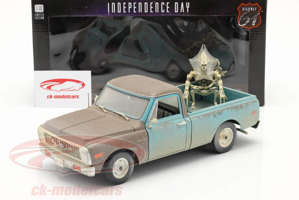 Chevrolet C-10 Ramasser 1971 Film Independence Day (1996) Avec chiffre 1:18 Highway61