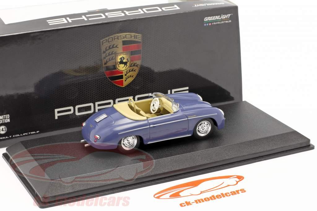 Porsche 356 Speedster Super year 1958 aquamarine blue 1:43 Greenlight
