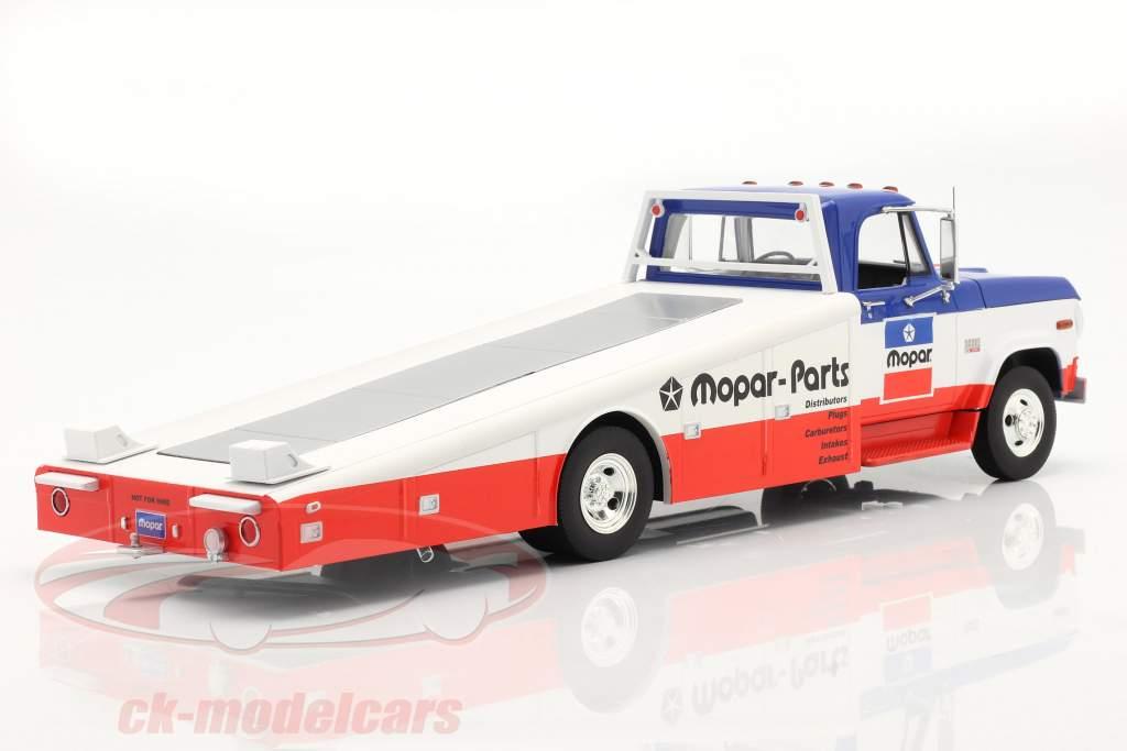 Dodge D300 Ramp Truck Mopar 1970 blu / bianca / rosso 1:18 GMP