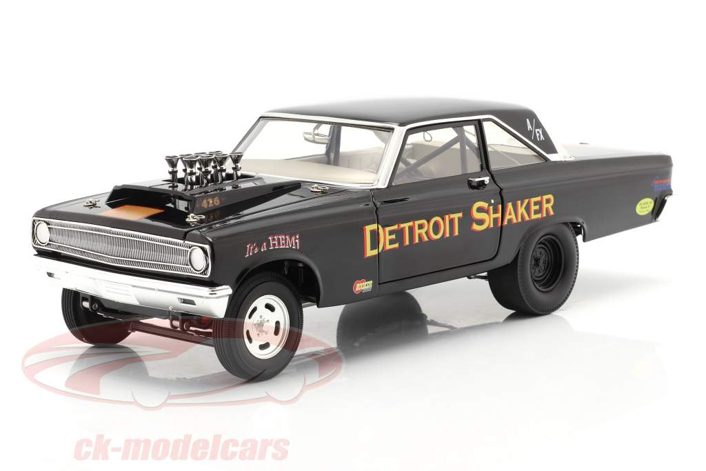 Dodge AWB Detroit Shaker Drag Car 1965 zwart 1:18 GMP