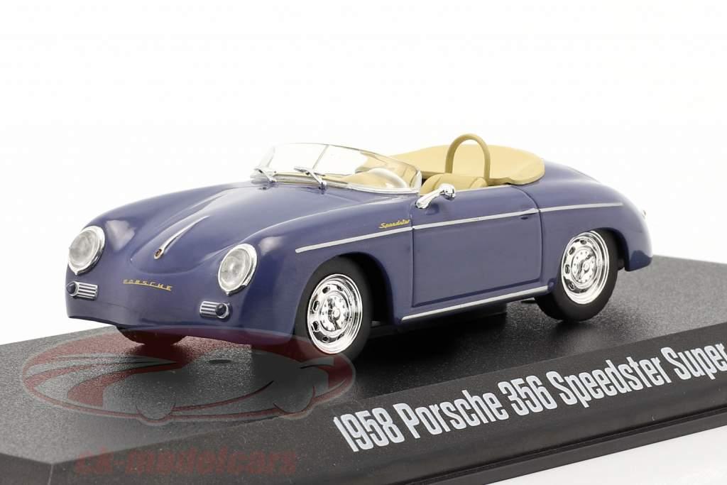 Porsche 356 Speedster Super Année de construction 1958 aquamarine bleu 1:43 Greenlight