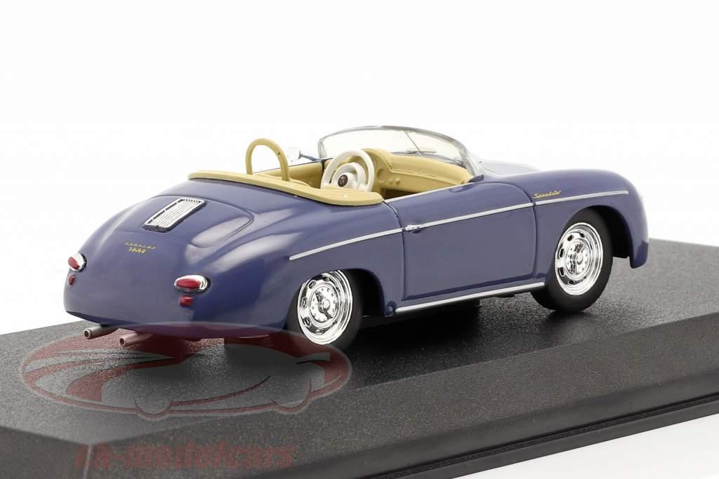 Porsche 356 Speedster Super Byggeår 1958 aquamarine blå 1:43 Greenlight
