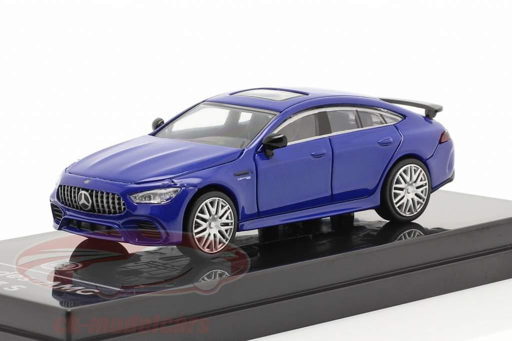 Mercedes-Benz AMG GT 63 S Bouwjaar 2019 blauw metalen 1:64 Paragon Models