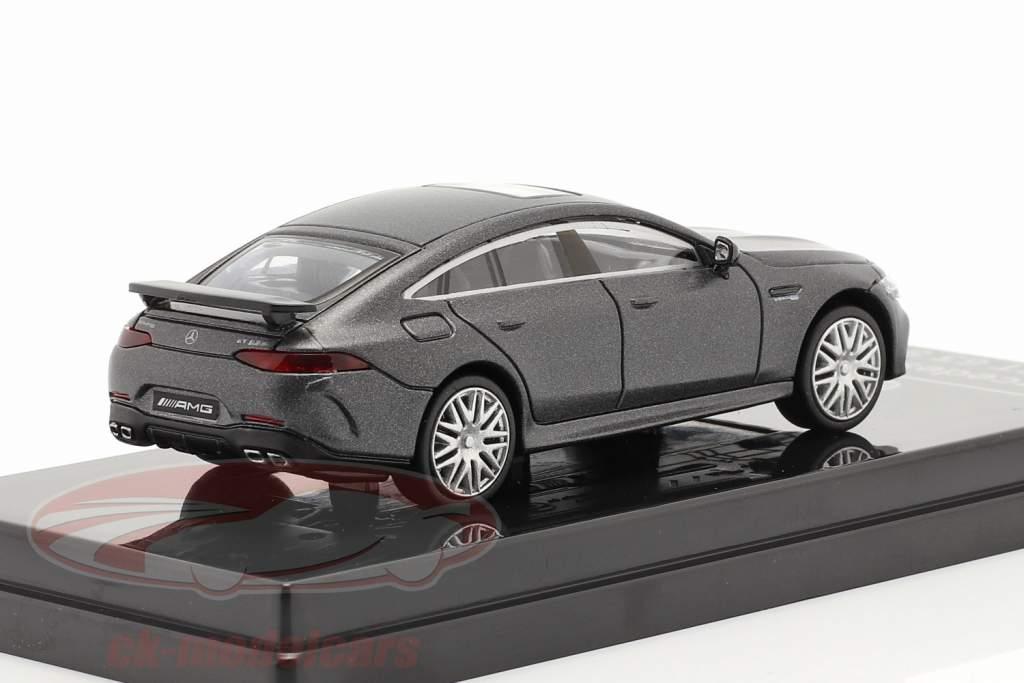 Mercedes-Benz AMG GT 63 S Año de construcción 2019 estera gris oscuro 1:64 Paragon Models