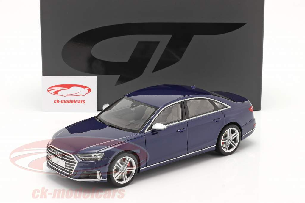 Audi S8 (D5) Ano de construção 2020 navarra azul 1:18 GT-Spirit