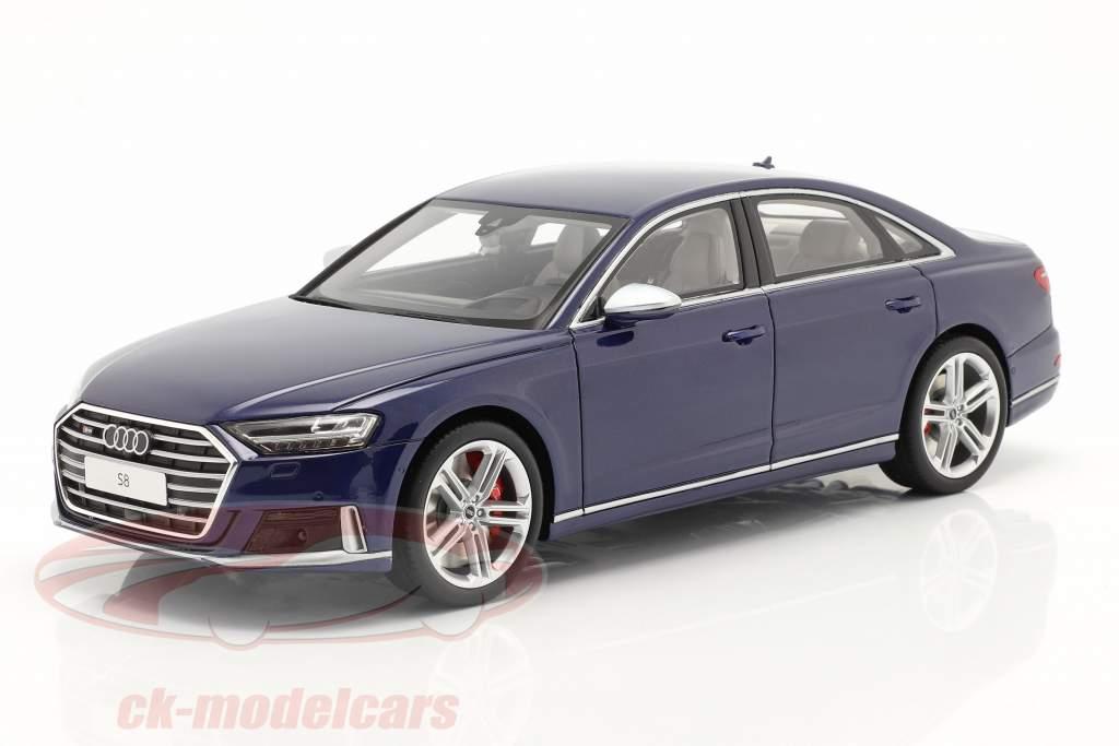 Audi S8 (D5) Bouwjaar 2020 navarra blauw 1:18 GT-Spirit