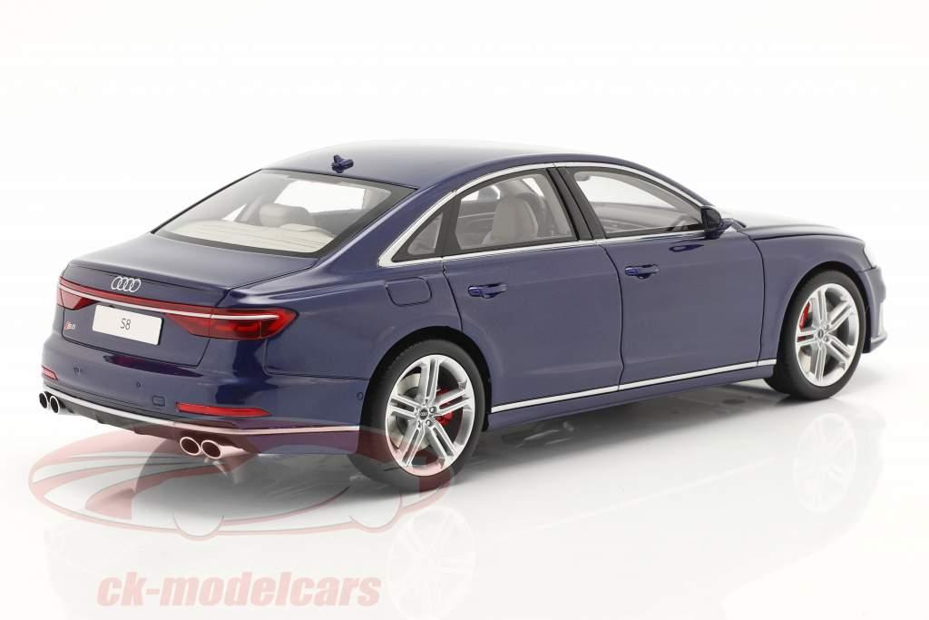 Audi S8 (D5) Byggeår 2020 navarra blå 1:18 GT-Spirit