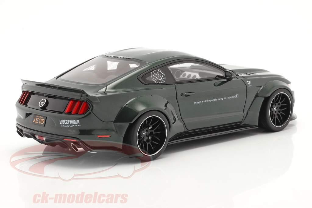 Ford Mustang by LB Works dark highland green 1:18 GT-Spirit