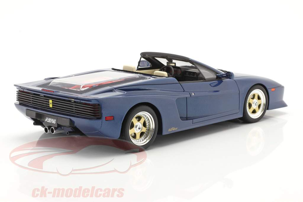 Koenig Specials Ferrari Testarossa Spider 1985 blue metallic 1:18 GT-Spirit