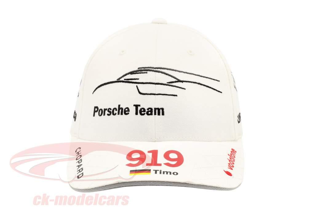 Porsche Team Cap Timo Bernhard 919 Hybrid weiß