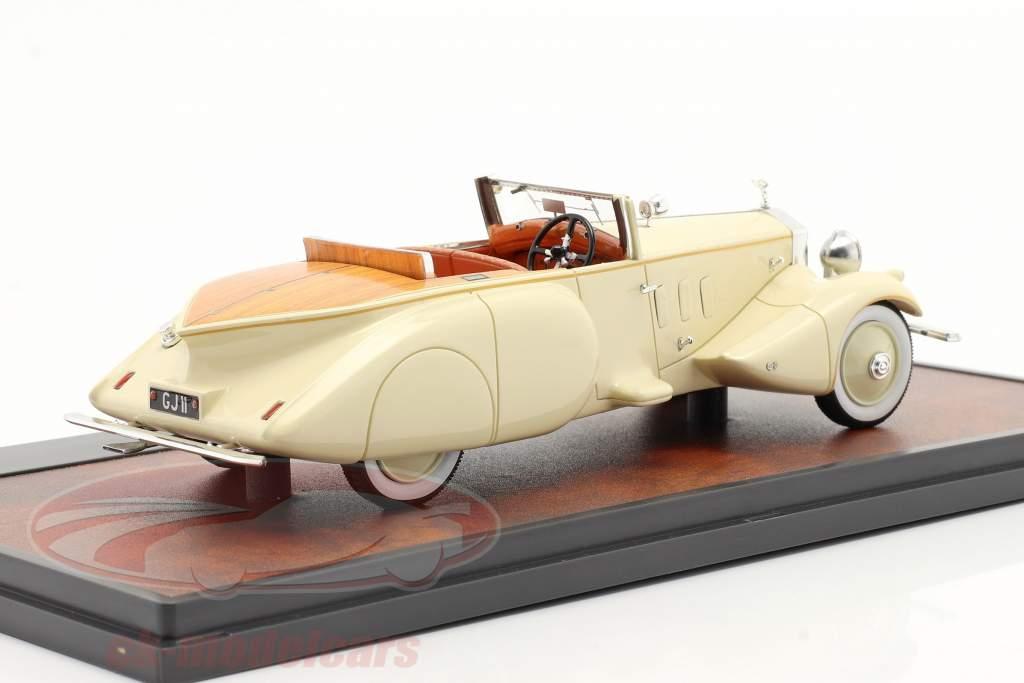 Rolls Royce Phantom II Barker Boattail Maharaja of Rewa 1930 creme weiß 1:43 Matrix