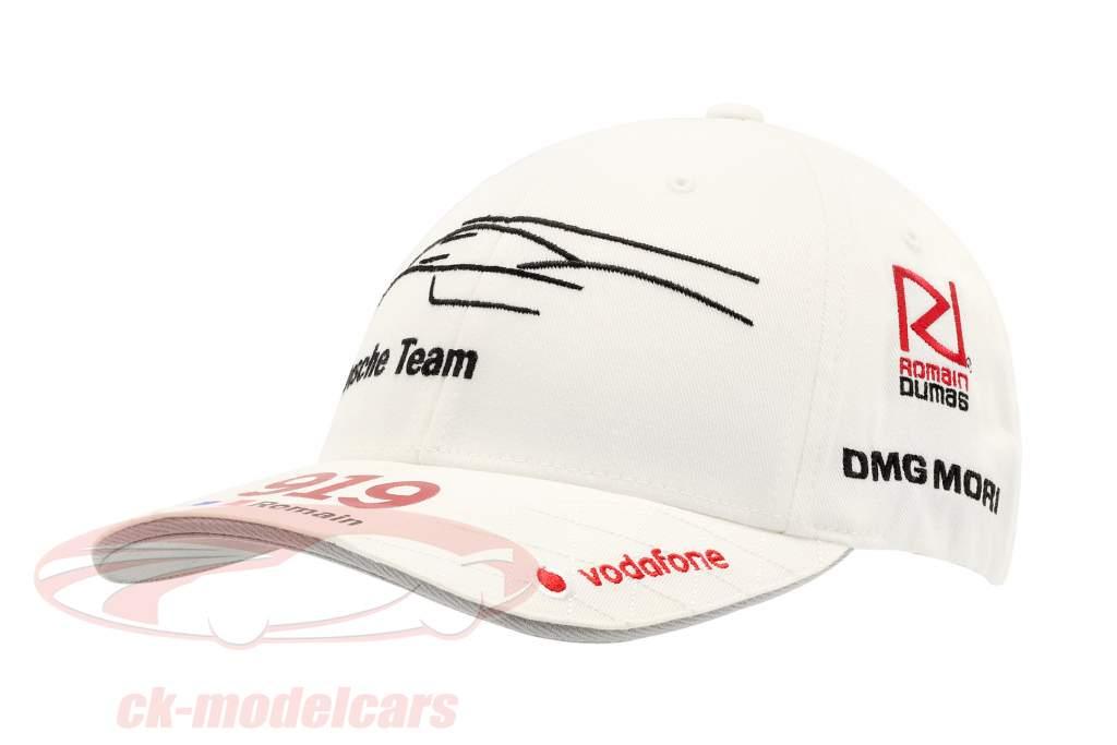 Porsche Team Cap Romain Dumas 919 Hybrid hvid