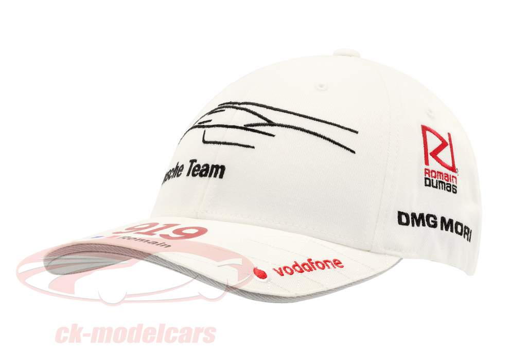 Porsche Team Cap Romain Dumas 919 Hybrid weiß