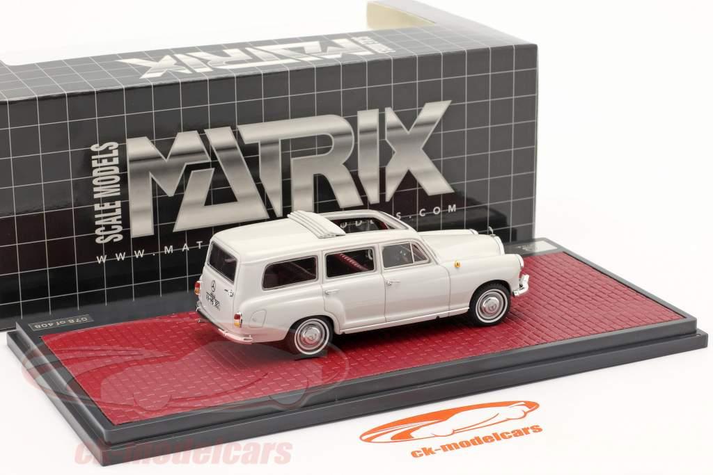 Mercedes-Benz Binz 180d (W120) Perua Ano de construção 1960 cinza claro 1:43 Matrix