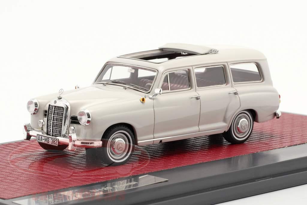 Mercedes-Benz Binz 180d (W120) Camioneta Año de construcción 1960 gris claro 1:43 Matrix