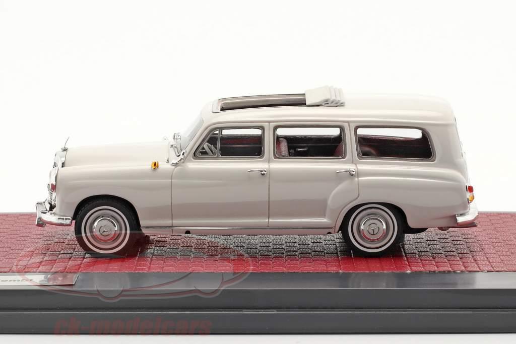 Mercedes-Benz Binz 180d (W120) Auto famigliare Anno di costruzione 1960 grigio chiaro 1:43 Matrix