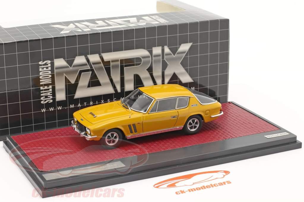 Jensen Interceptor FF Series II Bouwjaar 1970 mango- geel 1:43 Matrix