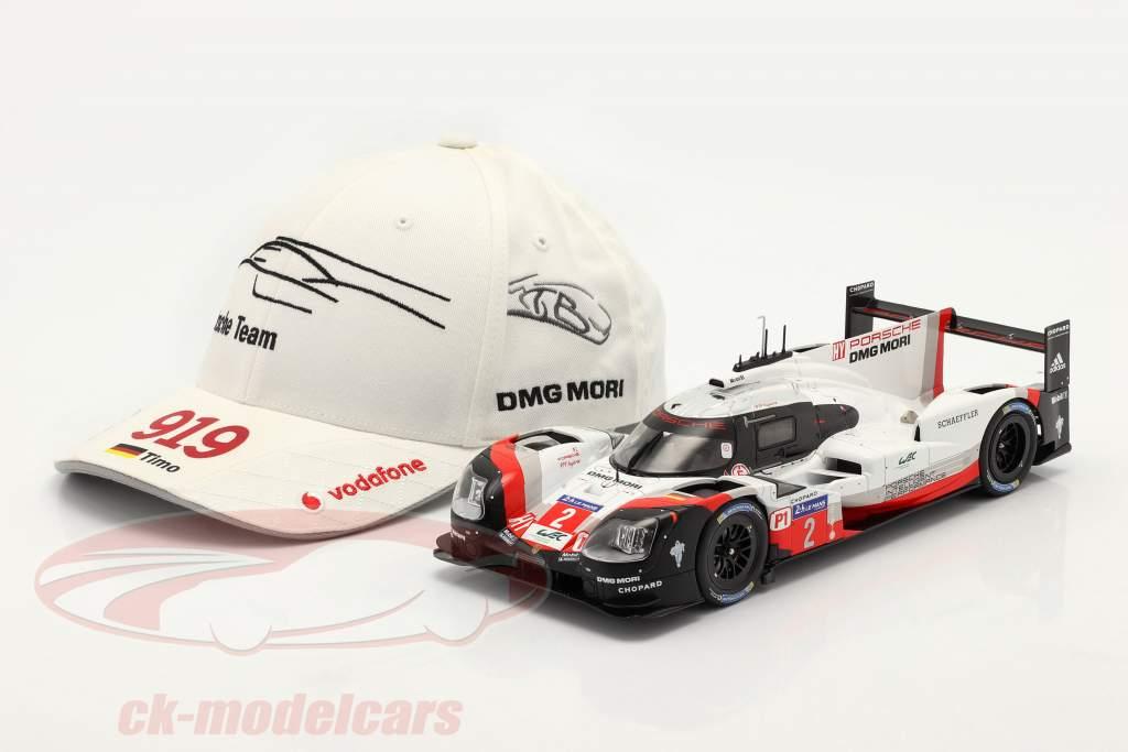 Porsche Team Cap Timo Bernhard 919 Hybrid blanc