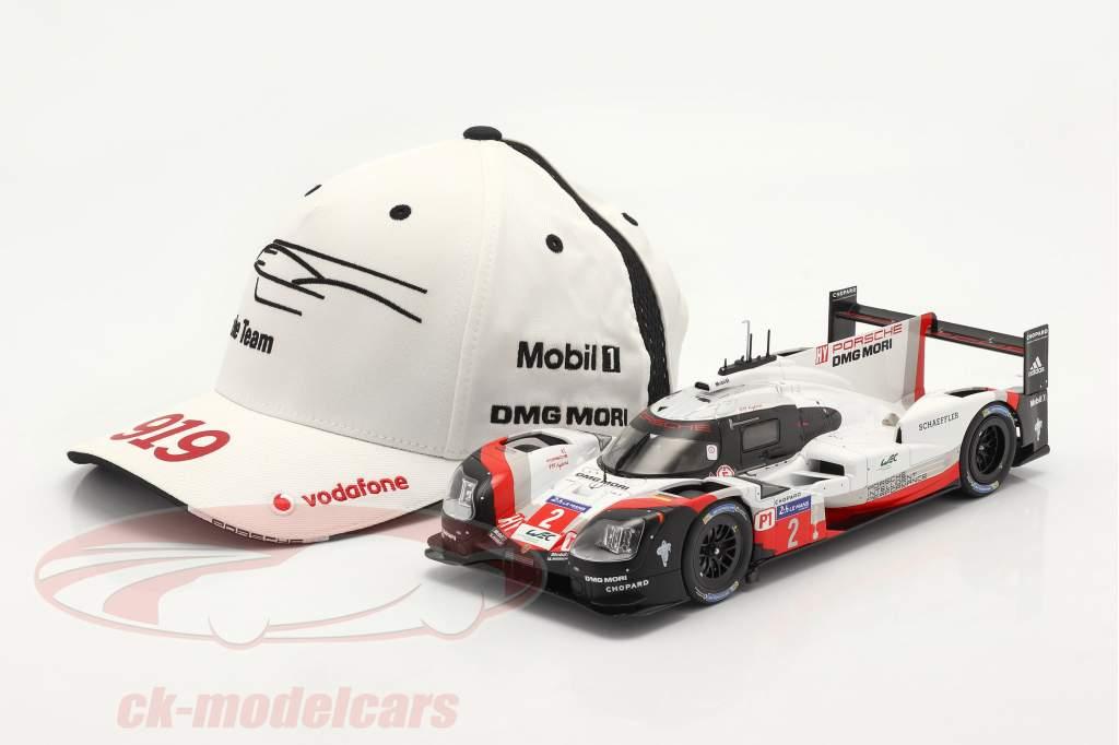 Porsche Team Cap LeMans 919 Hybrid bianca