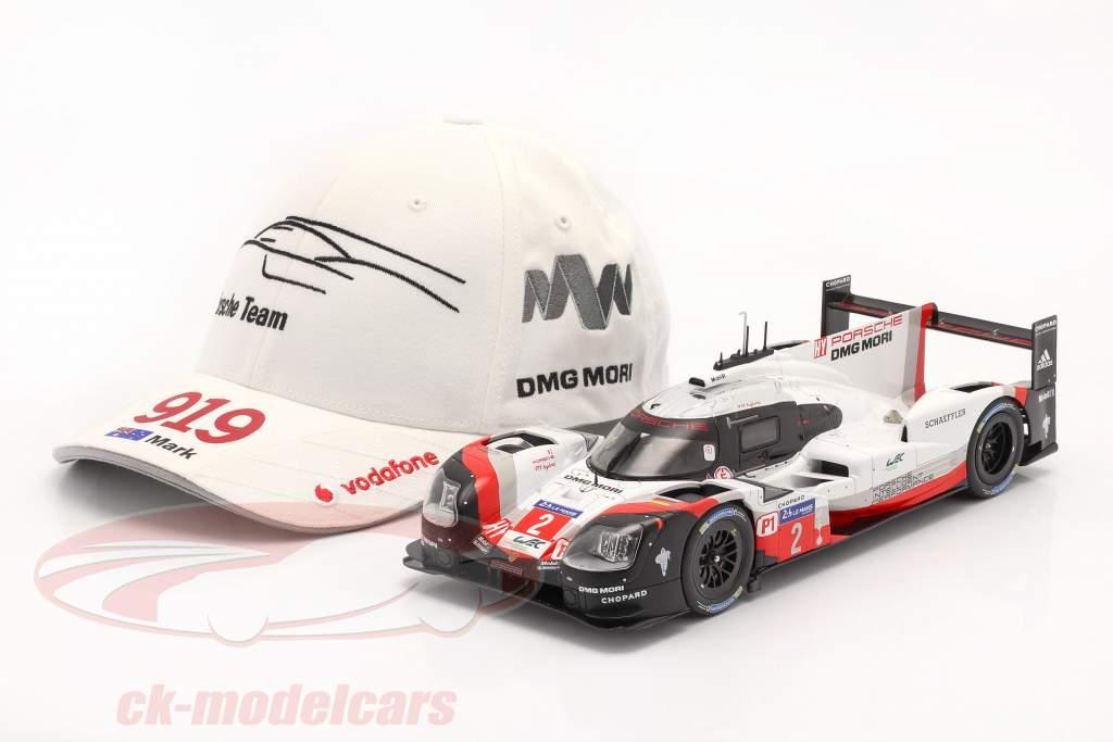 Porsche Team Cap Mark Webber 919 Hybrid white