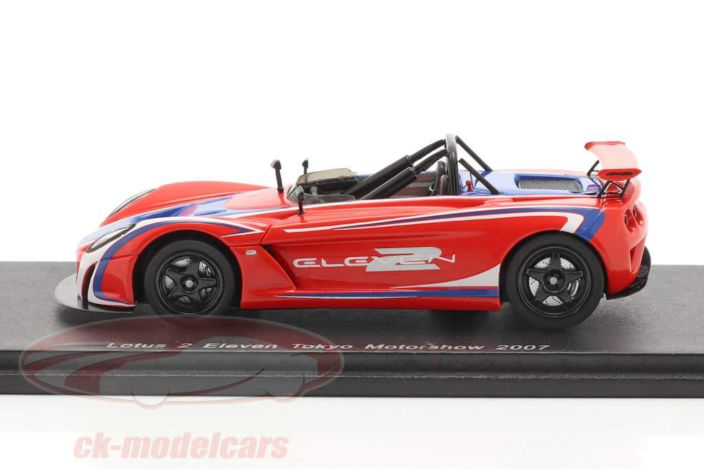 Lotus 2 Eleven Tokyo Motor Show 2007 Red / Blue Spark 1:43