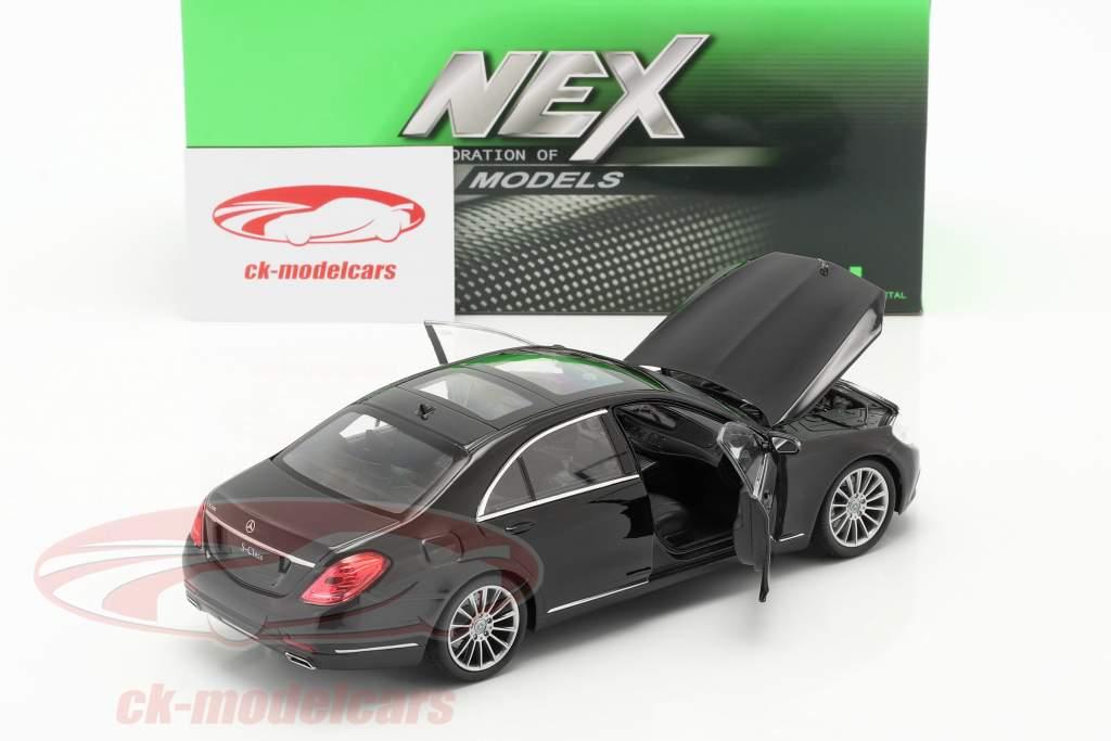 Mercedes-Benz S-Klasse (W222) Bouwjaar 2015 zwart 1:24 Welly