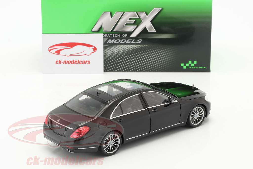 Mercedes-Benz S-Class (W222) year 2015 black 1:24 Welly