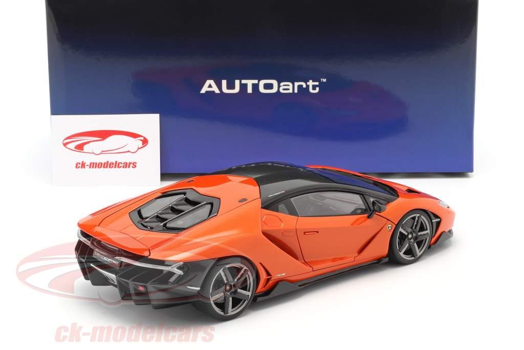 Lamborghini Centenario Anno di costruzione 2016 perla arancia 1:18 AUTOart