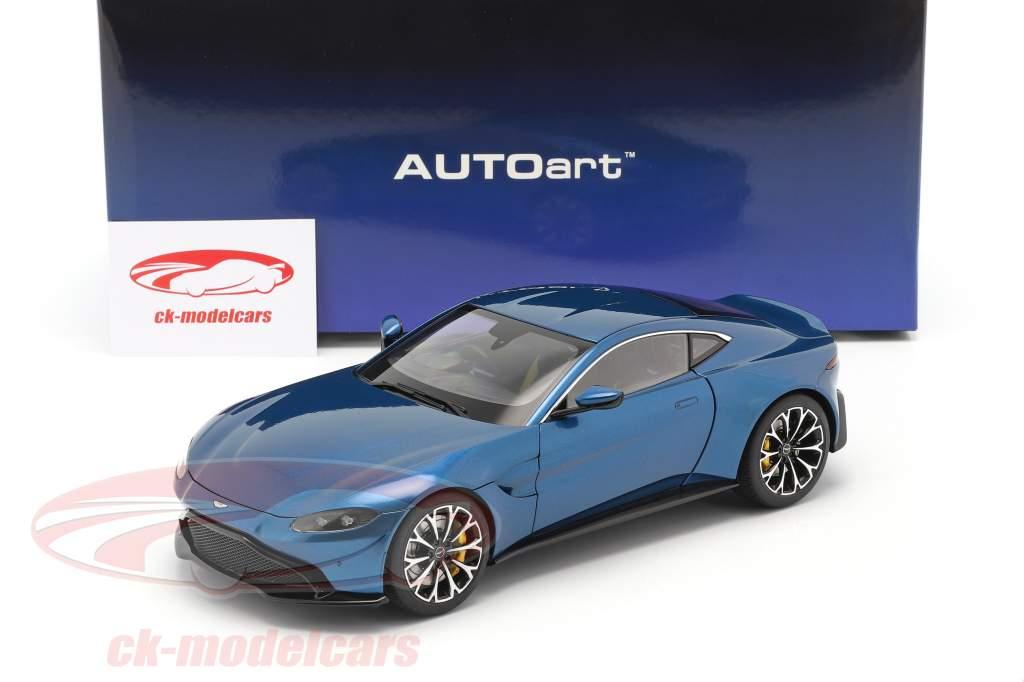Aston Martin Vantage Bouwjaar 2019 ming blauw 1:18 AUTOart