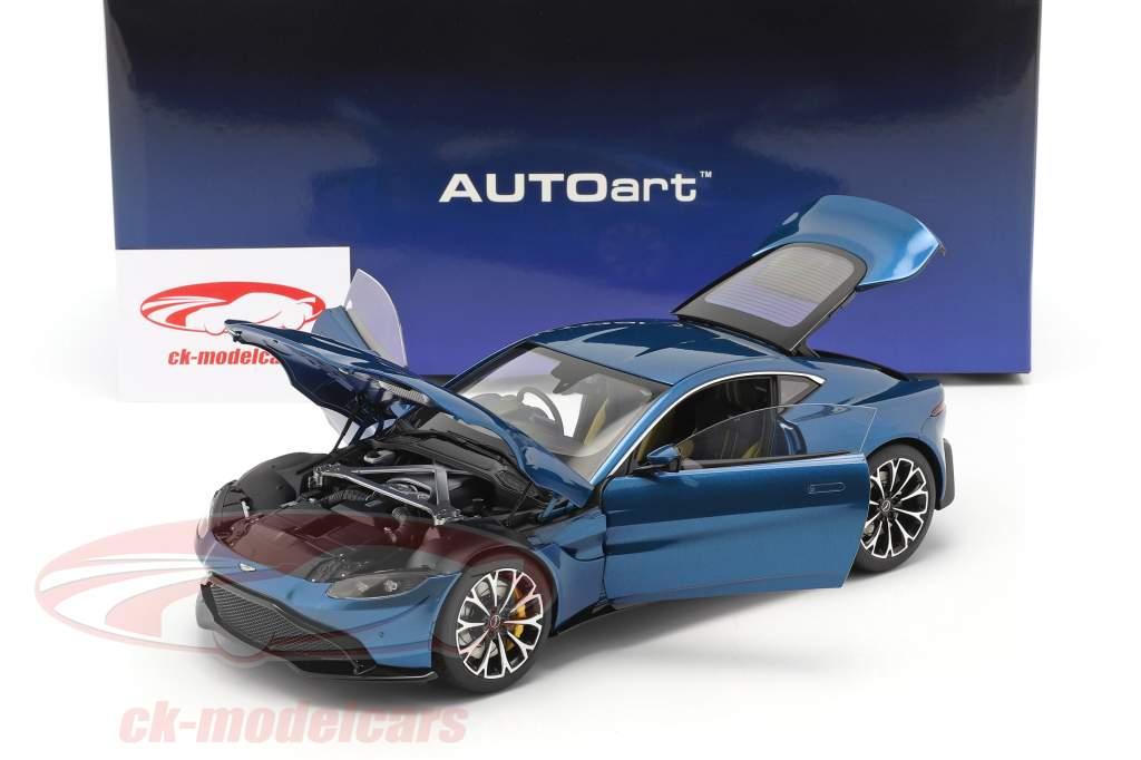 Aston Martin Vantage Byggeår 2019 ming blå 1:18 AUTOart